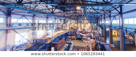 Fiberglass production industry equipment at manufacture background, wide-focus lens Stock photo © Traimak