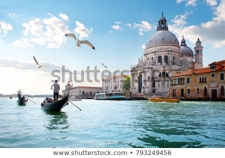 Veneza canal pôr do sol Itália água casa Foto stock © Givaga