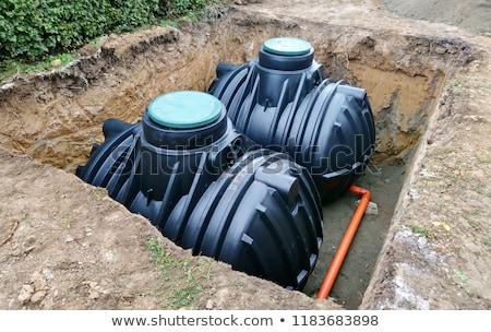 ondergrondse · opslag · twee · plastic · beneden · grond - stockfoto © hamik