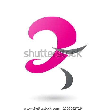 マゼンタ 楽しい 文字z ベクトル 実例 孤立した ストックフォト © cidepix
