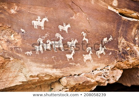 Petroglyphs at Arches National Park Stock photo © fotogal