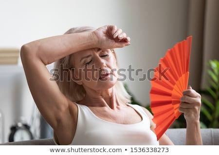 閉経 · 少女 · 女性 · 喜び · 頭痛 · 実例 - ストックフォト © adrenalina