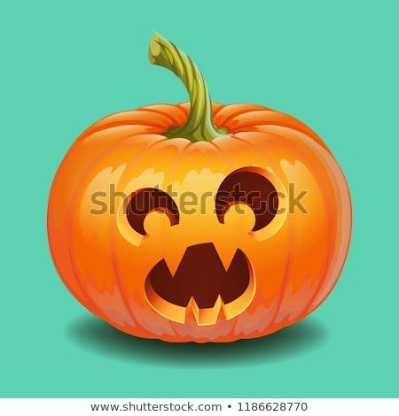 Halloween pumpkin face - funny surprised with big eyes smile Jack o lantern Stock photo © MarySan
