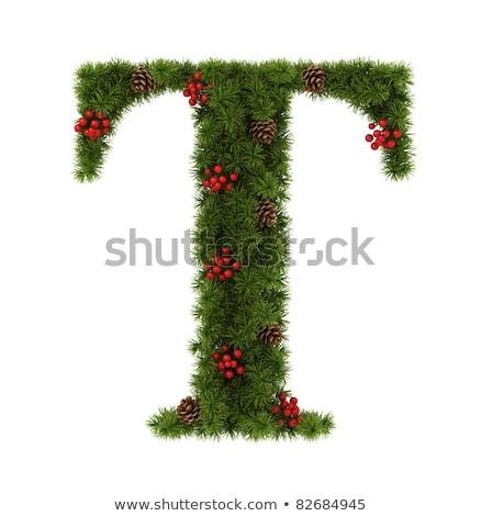christmas alphabet letter t stock photo © grafvision
