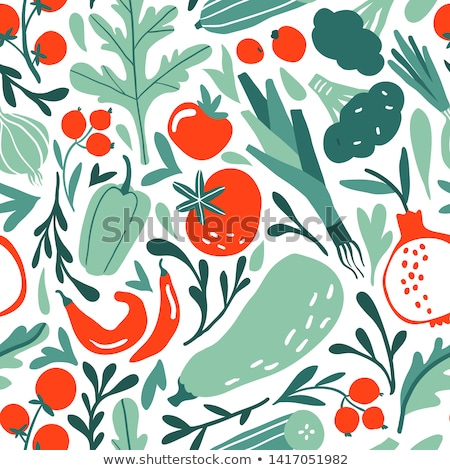 Background of red tomatoes. Vector seamless pattern of vegetable Stock photo © popaukropa