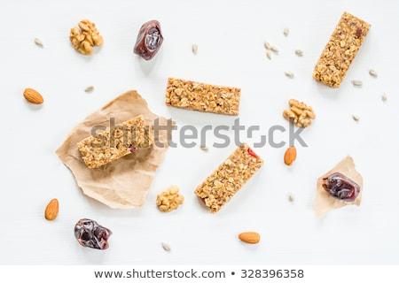 Casero orgánico granola cereales bar nueces Foto stock © DenisMArt