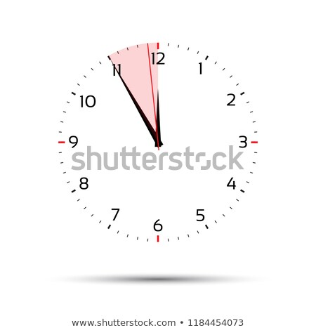 Time is money concept, in five minutes twelve, red period, time management, simple vector illustrati Stock photo © kurkalukas