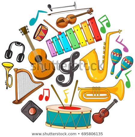 inny · muzyka · klasyczna · gitara · tle · sztuki · grupy - zdjęcia stock © colematt