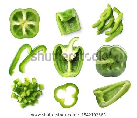 Verde pimenta fatias diferente topo Foto stock © maxsol7