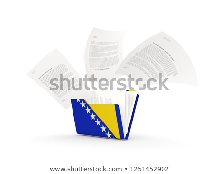 Carpeta bandera Bosnia Herzegovina archivos aislado blanco Foto stock © MikhailMishchenko
