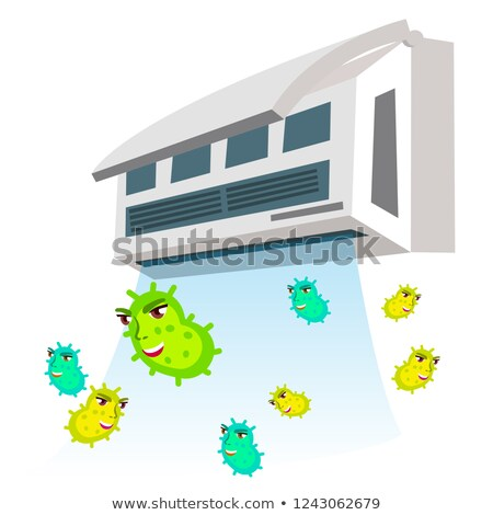 Allergic To Bacteria Flying From Air Conditioner Vector. Isolated Cartoon Illustration Stock photo © pikepicture