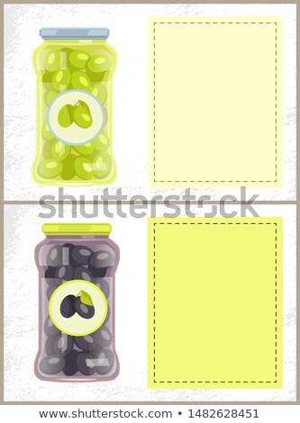 Preto verde oliva conservado comida Foto stock © robuart