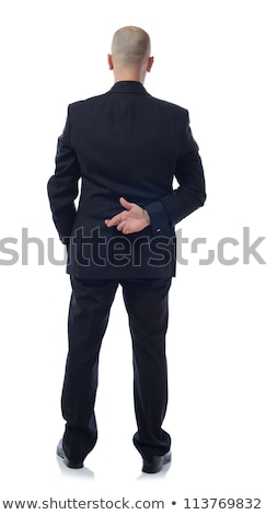 man with his hands tied behind his back stock photo © nito