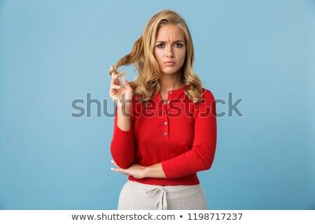 Ritratto deluso donna 20s indossare Foto d'archivio © deandrobot