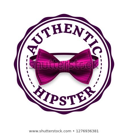 autentikus · hipszter · címke · vektor · retro · kitűző - stock fotó © pikepicture