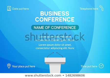 Stockfoto: Business · conferentie · presentatie · patroon · vector · berichten