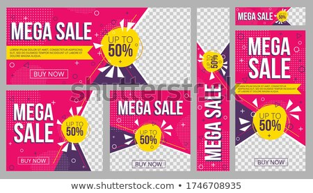 Mega Discount Buy Now Set Vector Illustration Stock photo © robuart