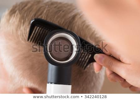 человека · белые · волосы · волос · мужчин - Сток-фото © andreypopov