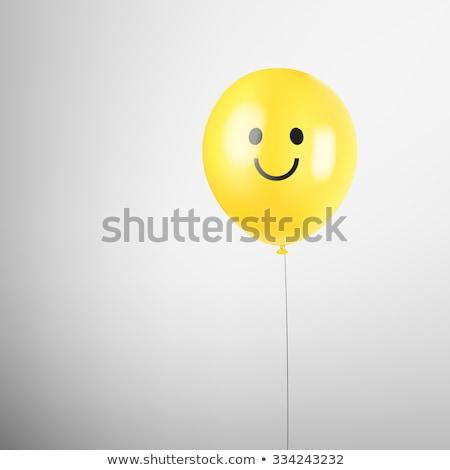 Farbenreich Ballons glückliches Gesicht Illustration glücklich Kunst Stock foto © colematt