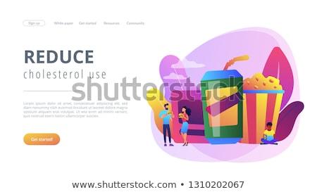 посадка · страница · деловые · люди · еды · питьевой - Сток-фото © rastudio