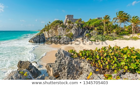 ancient tulum mayan ruins mexico quintana roo stock photo © lunamarina