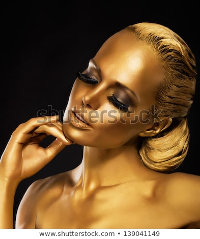 luxury woman with stage make up stock photo © dariazu