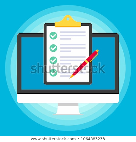 clipboard with check marks icon for health insurance claim form stock photo © ussr