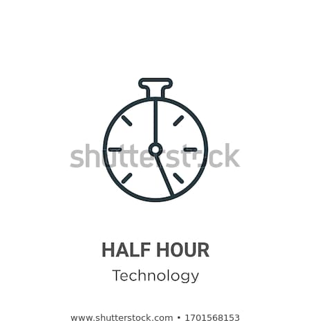 half clock linear icon vector illustration isolated on white background stock photo © kyryloff