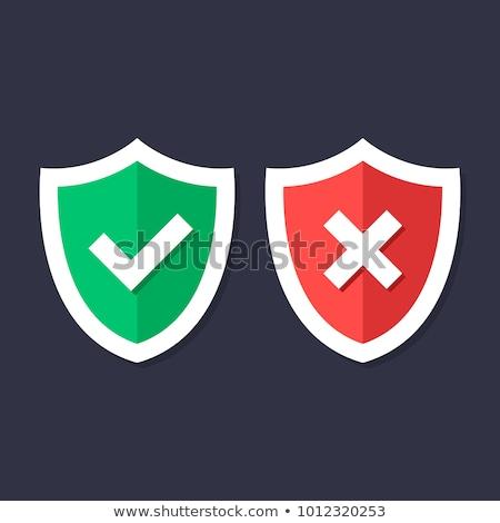 illustratie · groene · rode · kruis · geïsoleerd · kruis - stockfoto © kyryloff