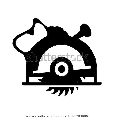 Icono circular vio delgado línea diseno Foto stock © angelp
