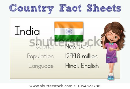 Country fact sheet for India Stock photo © colematt