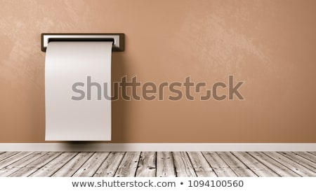 Blank Receipt Coming Out from the Wall of the Room Stock photo © make