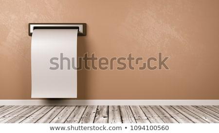 領収書 外に 壁 ルーム 白 チケット ストックフォト © make