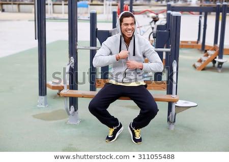 fatigué · homme · coureur · épuisé · sport · exercice - photo stock © deandrobot