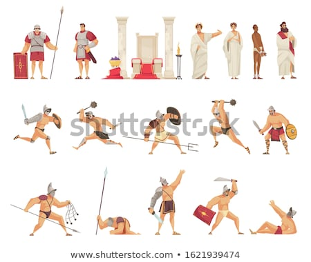Ancient rome flat concept icons Stock photo © netkov1