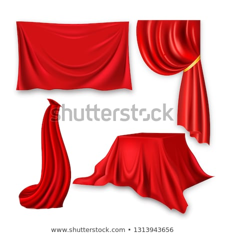 Ribbon Velvet Textile Vector. Fabric Banner Element. Elegance Material. Isolated Realistic Illustrat Stock photo © pikepicture