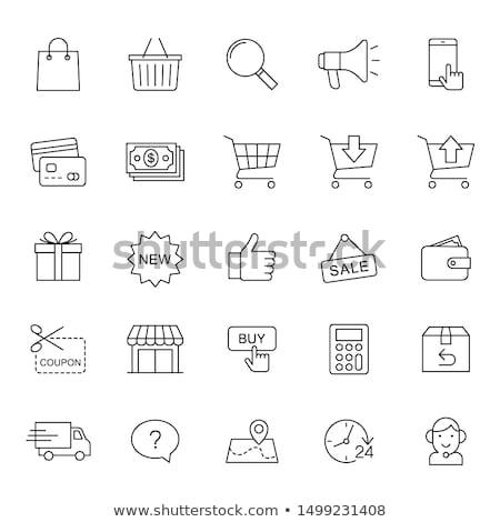 Aplicación llamada venta lineal iconos Foto stock © robuart