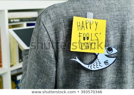 Kâğıt balık gün ev yapımı eşek şakası Stok fotoğraf © nito