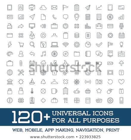 Set of 120 Icons Stock photo © angelp