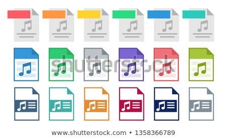 Ikon vektör müzik metin şarkı Stok fotoğraf © pikepicture