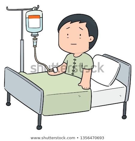 vector of patient using infusion medicine stock photo © olllikeballoon
