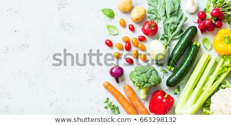 Vers organisch nat wortelen courgette zwarte Stockfoto © marylooo