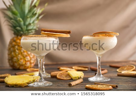 Exotic cocktail with dried pineapple Stock photo © BarbaraNeveu