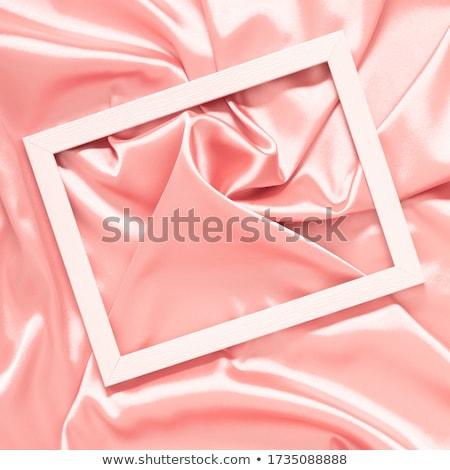 Pink soft silk texture, flatlay background Stock photo © Anneleven