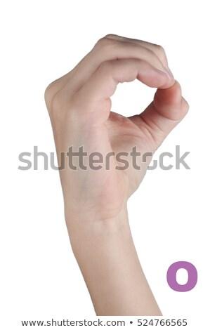 Strony alfabet znaki piękna młodych głuchy Zdjęcia stock © vladacanon