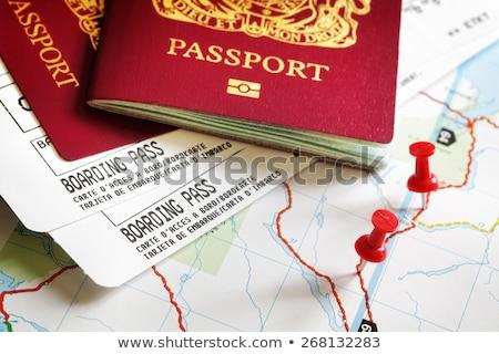Beszállás passz útlevél utazás légitársaság jegyek Stock fotó © solarseven