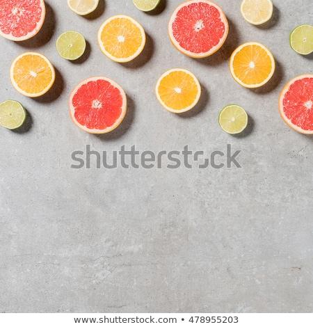 Cytrus owoce kamień tabeli żywności Zdjęcia stock © dolgachov