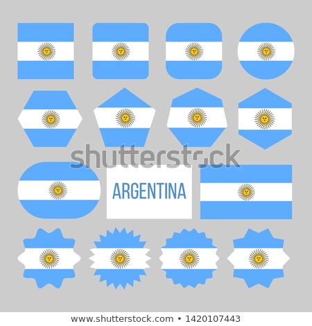 Argentina Flag Collection Figure Icons Set Vector Stock photo © pikepicture
