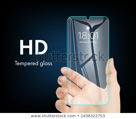 Smartphone And Screen Protector Glass Cover Vector Stock photo © pikepicture