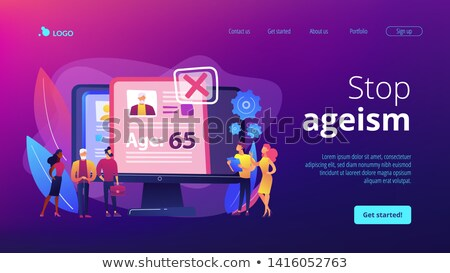 Sociale probleem landing pagina agentschap leeftijd Stockfoto © RAStudio